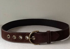 Coach Vintage Dark Brown Suede And Brass Belt Size Large, New no tags 41� long
