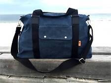 Canvas Weekender Travel Bag / Duffle / Mum Bag for Men and Women - Navy Blue
