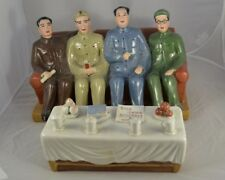 Chinese Statues, Mao with Other Communist Leaders with a Sofa and aTable