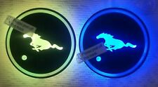 New listing Cars for Luminous Coasters 2 pc Led Usb fits Cup holder Mustang Pony Us seller
