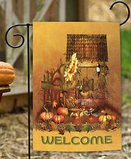 Toland Autumn Farm Welcome 12.5 x 18 Fall Harvest Pumpkin Garden Flag