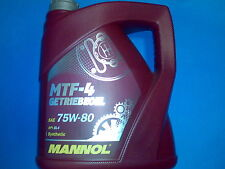 4 L MANNOL mtf-4 huile 75w-80 75w80 API gl-4 BMW MB VW FORD TOYOTA NISSAN