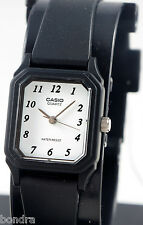 Casio LQ142-7B Ladies Analog Watch White Face Resin Band Numbers Classic NEW
