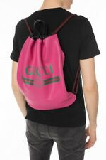 Gucci #516639 GG Print Drawstring Leather Tote Backpack w/Pouch , NWT