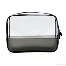 Clear Transparent Plastic PVC Travel Cosmetic Make Up Toiletry Zipper Bag 3S