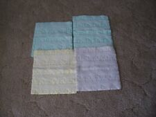 "Four Vintage Baby Crib Pee Pads 12 & 3/4"" by 11 & 3/4"""