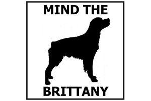 Mind the Brittany Spaniel - Gate/Door Ceramic Tile Sign