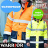 Pro Two Tone High Visibility Waterproof Parka Work Safety Coat Jacket Hi Viz Vis