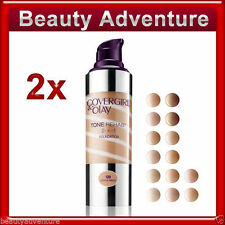 2x Covergirl & Olay Tone Rehab 2-in-1 Foundation Full Size * Choose Your Shade *