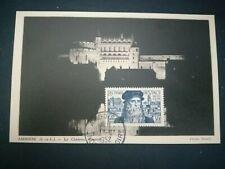 FRANCE CARTE POSTALE YVERT 929 DE VINCI CHATEAU AMBOISE 30F INDRE ET LOIRE 1952