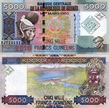 GUINEA - GUINEE 5000 Francs 2010 Banknote Pick 44 UNC  (14457