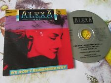 Alexa  – We Don't Remember Why Label: Savage Records – 3 VAG 903 3 inch disc