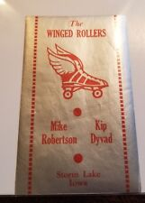 Vintage 1930-1950 Era Decal Winged Rollers Storm Lake Iowa