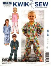 Kwik Sew Sewing Pattern K3126 3126 Toddlers Sleepwear Pajamas Pyjamas