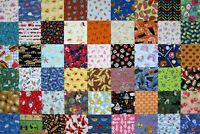 """I Spy 54 Childrens 4"""" Fabric Quilt Squares All Different novelty Charm Pack kit"""