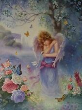 Christian Art Print Garden Whisper Angel Print by Tom duBois