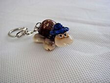 New Cowrie Shell Mini Turtle with Hat Keyring Collectible Gift Lucky Keepsake