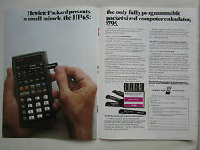 4/1974 PUB HP HEWLETT PACKARD HP-65 SCIENTIFIC CALCULATOR CALCULATRICE AD