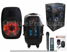 "MR.DJ PLBAT-15 3000 WATTS PORTABLE SPEAKER 15"" W/BLUETOOTH TECHNOLOGY & BATTERY"