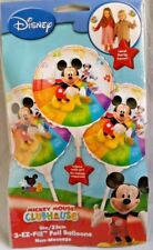 "DISNEY Mickey Mouse 3 Pk  EZ-Fill Foil 9"" (23CM) Balloons  INFLATE WITH AIR!"
