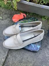 Jana 100% Comfort Shoes-Slip On Loafer Size 6.5 Soft Leather-'PEPPER'-Box & Tags