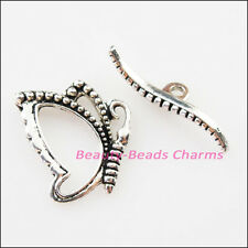 6Sets Tibetan Silver Lovely Animal Butterfly Bracelet Toggle Clasps Connectors