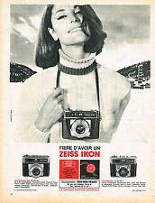 PUBLICITE ADVERTISING 094  1965   ZEISS  IKON   appareil photo CONTESSAMAT