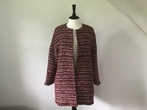 Ladies Red Coat By Massimo Dutti UK size 12 / Medium BNWT ! Cocoon style !