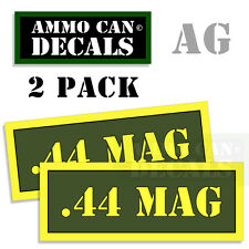 44 MAG Ammo Can Box Decal Sticker Set bullet ARMY Gun safety Hunting 2 pack AG