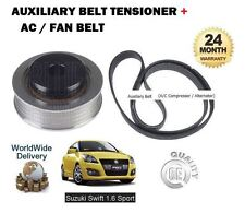 FOR SUZUKI SWIFT 1.6 SPORT M16A  2011-  NEW AUXILIARY FAN BELT TENSIONER + BELT