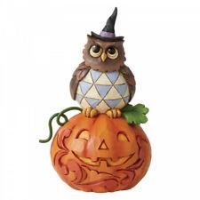 Jim Shore Jack-o-Lantern and Owl Mini Figurine Halloween