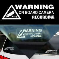 Warning On Board Camera Recording Car Window Truck Auto Vinyl Sticker Decor