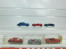 bk69-0,5 #6x WIKING H0 / 1:87 AUTO / AUTOVETTURA BMW : 190/191/320i + 828/328 +