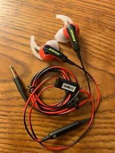 Bose SiE2i SoundSport In-Ear Headphones -W/ Microphone-Red & Black-Apple Devices
