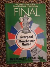 1977 FA Cup FINAL LIVERPOOL v MANCHESTER UNITED - 21st May