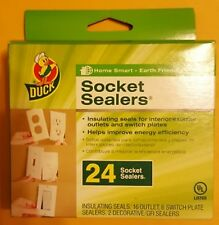 Duck Insulating Socket Sealers - 16 Outlet/6 Switch Plate/2 Decorative GFI