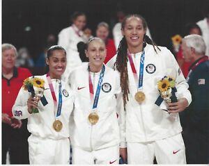 2021 TAURASI GRINER DIGGINS-SMITH OLYMPIC 8x10 COLOR PHOTOGRAPH WNBA MERCURY