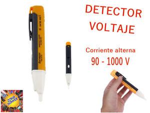 DETECTOR de VOLTAJE profesional ACÚSTICO Y LUMINOSO C/A 90V - 1000V