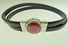 Arizona Cardinals Magnetic Close Leather Bracelet 7 Inches