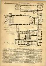 Walsall 1900 edifici COMUNALI J Glen Gibson planimetrie