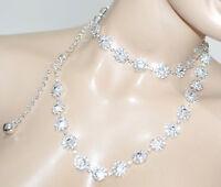 CEINTURE JEWEL femme argent strass cristaux mariée élégant cérémonie mariage A30