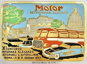 "Roma X° Conc. Naz. Eleganza Automobili Autopulmann 1957 Motor Sett. Auto ""4719"""