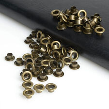 100x Metal eyelets Scrapbooking DIY Embelishment Garment Cloth Craft Bronze