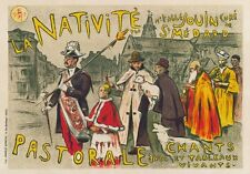 AP45 Vintage France La Nativité Nativity Advertisement Poster Card Print A5
