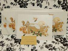Rare Lot 12 Ruth Morehead Christmas Cards Baby Jesus Manger Critter Ruthie's Joy