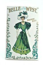 Vtg Paper Doll Victorian Dress Belle of the West Dressing Doll 1996 Shackman Co