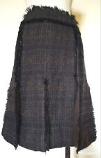 Tory Burch Black and Coco Tweed Skirt Size 6 NWT retails $425