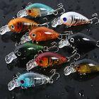 Pro 9pcs A Set Plastic Fishing Lures Bass CrankBait Crank Bait Tackle 4.5cm/4g