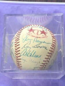 Rare Roger Maris Cracker Jack Old Timers Classic Multi Signed Baseball JSA LOA