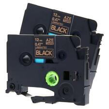 2PK P-TOUCH LABEL TAPE Compatible For BROTHER P-TOUCH TZ TZE231 TAPE 12MM Gold